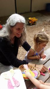 Ms. Virginia guides children of all ages through art principles and practice using Montessori methods at Renaissance Montessori