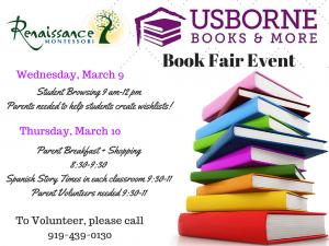 Book FairWednesday, March 9and Thursday, March 10