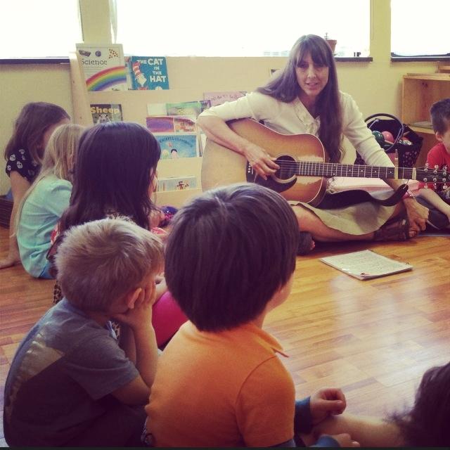 Children in a music class