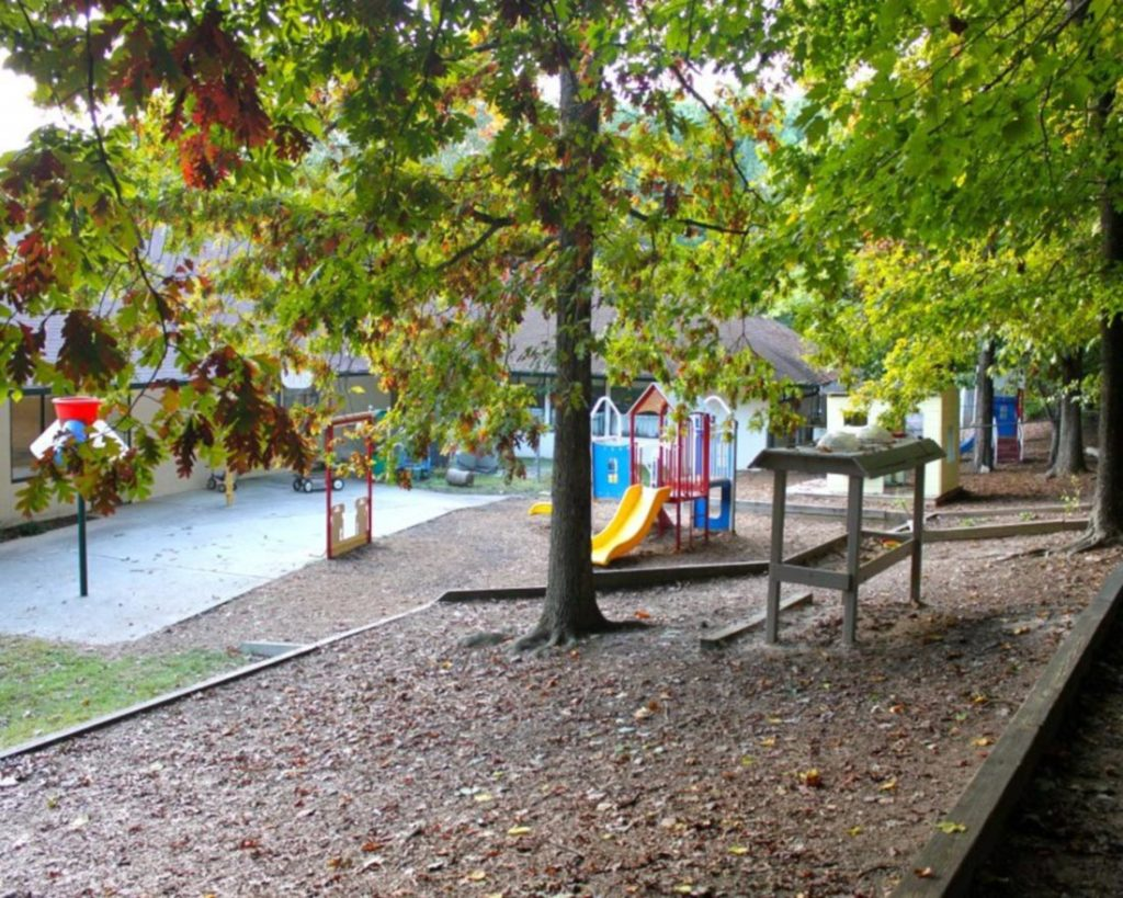 Playground at back of our school